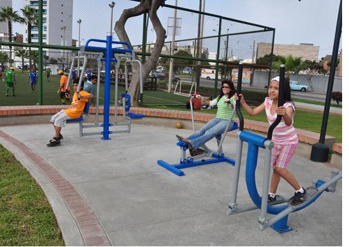 Municipalidad instalaron m dulos para ejercicios for Gimnasio parquesur