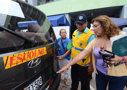 Solo transporte escolar certificado podrá circular en Miraflores