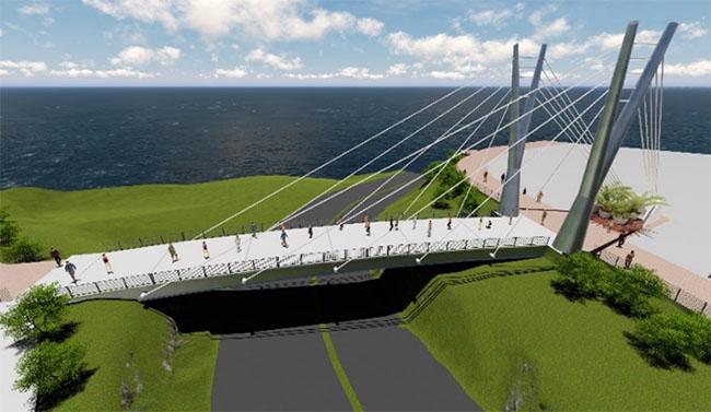 Diseño 3D del Puente de la amistad
