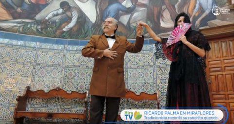 Ricardo Palma recorrió Miraflores