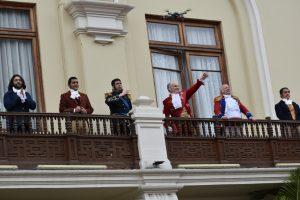 Recreación histórica por el Bicentenario de la Independencia del Perú @ Parque Central